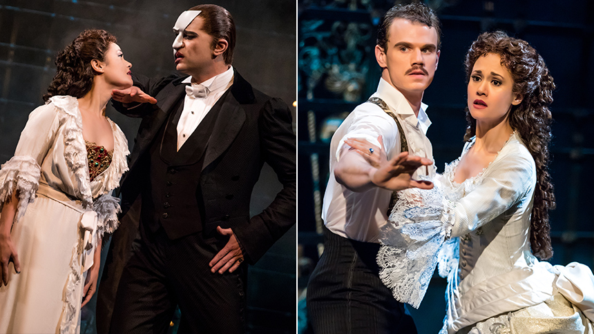 First Look at Broadway's New Phantom of the Opera Stars B...