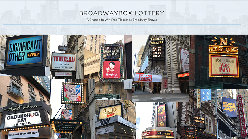 See Broadway First with BroadwayBox & the BboxLottery