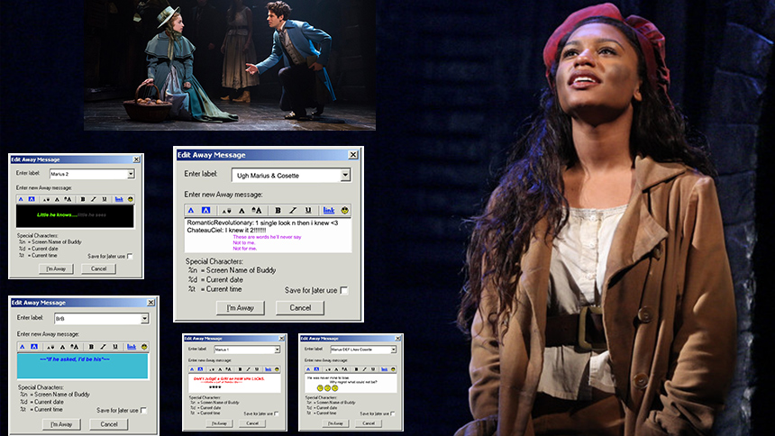 If Les Miz's Eponine Posted AIM Away Messages About Mari...