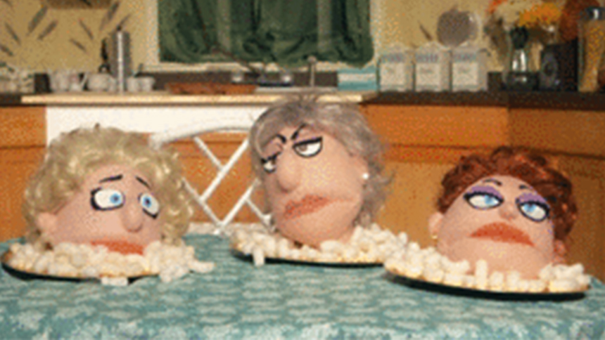 That Golden Girls Show! Puppets Recreate Iconic TV Moment...