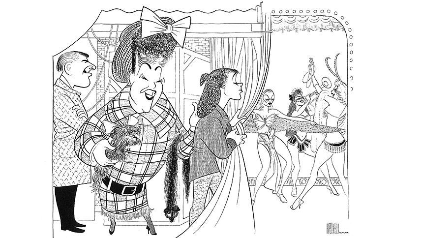 See 10 Rare Works by Famed Broadway Artist Al Hirschfeld