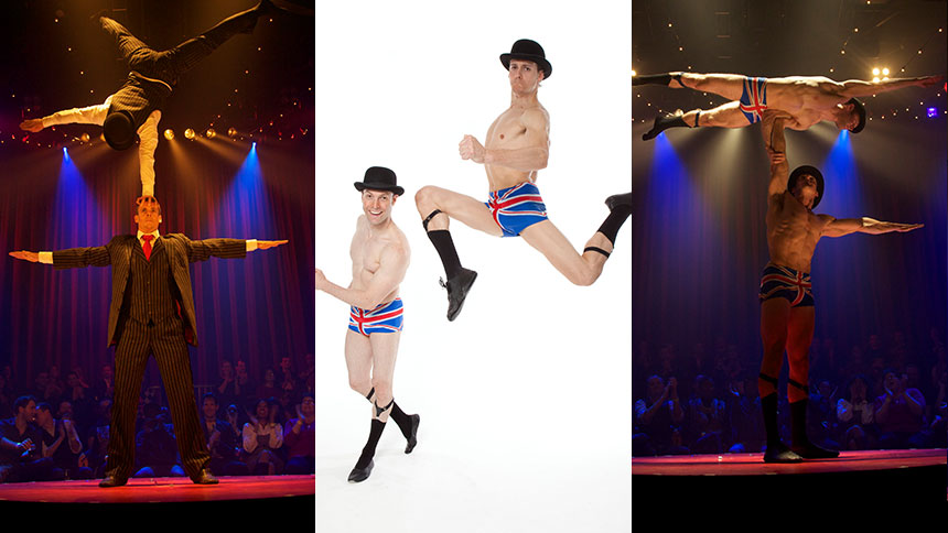 Dynamic Duets: Meet La Soiree's Hunky Acrobats Hamish McC...