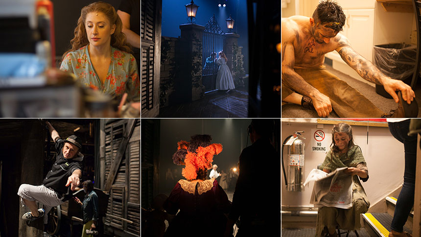 12 Striking Photos Of Life Backstage at Les Miserables
