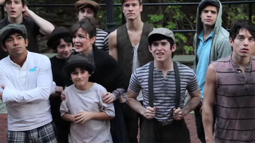 "Hot Clip of the Day: Pour One Out for Newsies and ""Patric..."