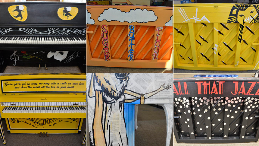 Photo Preview: Broadway Shows Create Colorful New Pianos ...