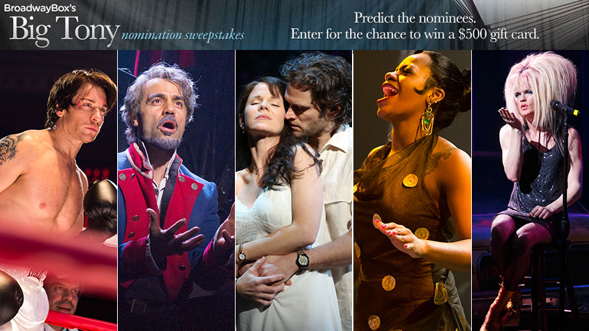 Predict The Tony Nominees For a Chance to Win Big! (And Four Races ...