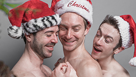 Exclusive Photos! Afterglow Stars Brandon Haagenson, Joe Chisholm, & Patrick Reilly Ring in the Holidays with a Fun, Sexy Photoshoot