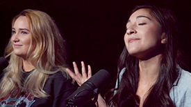 "Broadway Unplugged: The Mad Ones Stars Emma Hunton & Krystina Alabado Perform ""Freedom"""