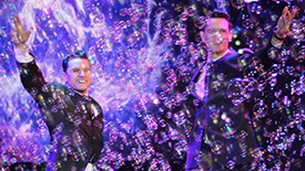 If You've Ever Wanted to See The Jersey Boys Inside Gigantic Bubbles, Today Is Your Day