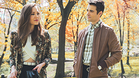 Bandstand Stars Laura Osnes & Corey Cott Give Us A  Fresh Take on  When Harry Met Sally