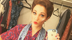 Photo Roundup! Laura Osnes Brings BBox Insta Followers Backstage at Paper Mill's The Bandstand