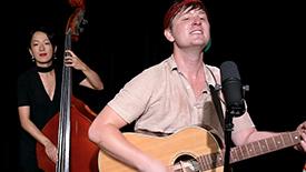 "Broadway Unplugged: Smokey Joe's Cafe Star Max Sangerman Rocks Out to ""Ruby Baby"""