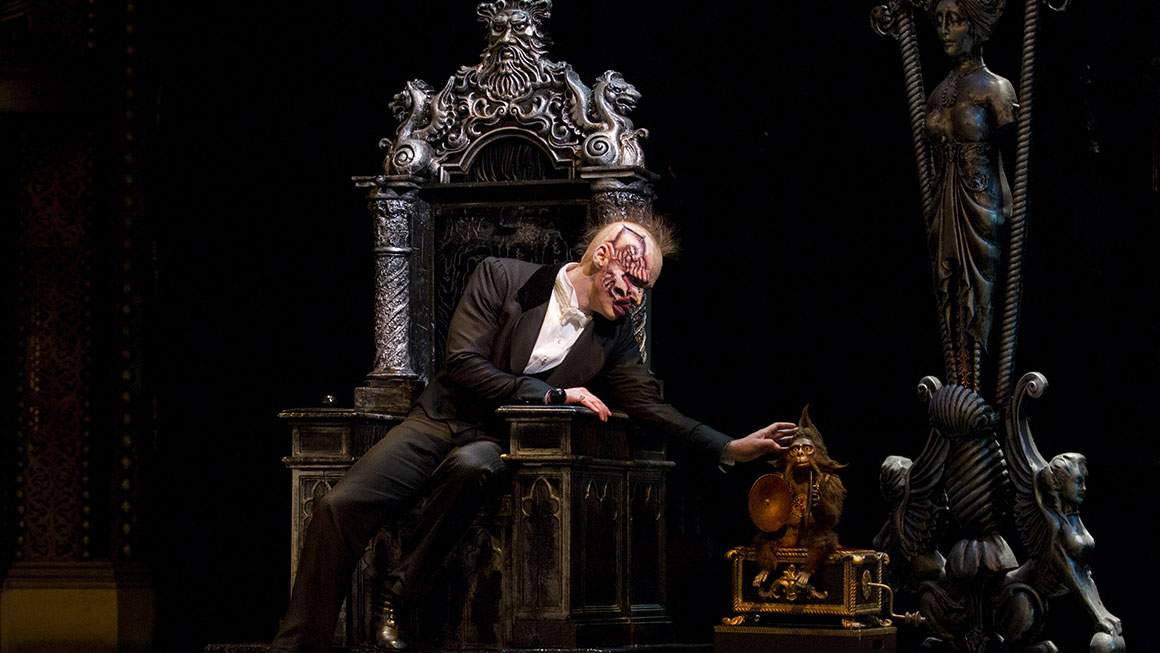 Hugh Panaro as the Phantom in <em>The Phantom of the Opera</em>.