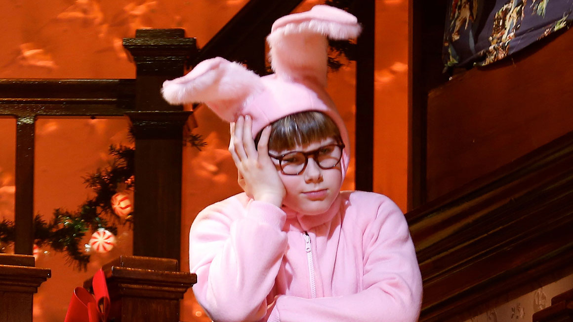 johnny rabe as ralphie in a christmas story the musical