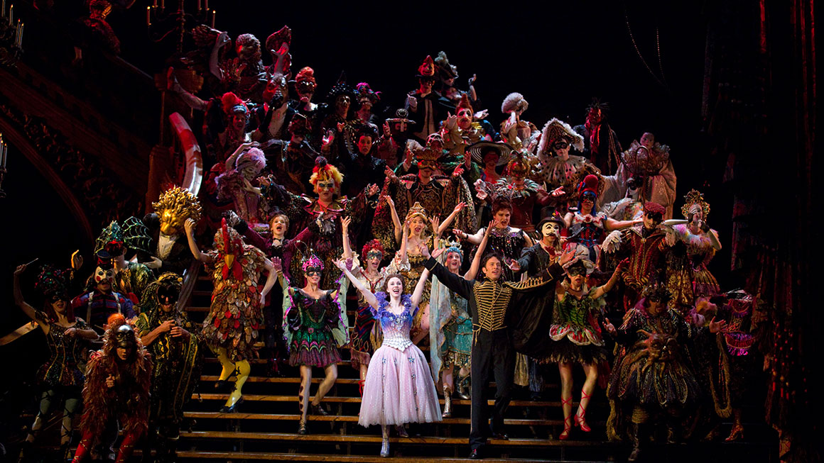 """Masquerade"" featuring the company of <i>Phantom of the Opera</i>."