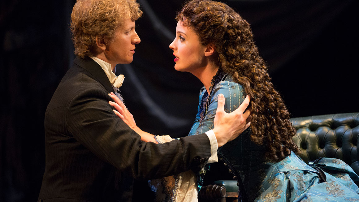 Jeremy Hays as Raoul and Mary Michael Patterson as Christine in <i>Phantom of the Opera</I>.
