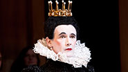 Mark Rylance as Olivia in Twelfth Night.