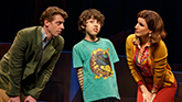 Christian Borle as Marvin, Anthony Rosenthal as Jason, & Stephanie J. Block as Trina in 'Falsettos'