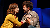 Stephanie J. Block as Trina & Brandon Uranowitz as Mendel in 'Falsettos'