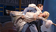 Andy Karl as Bruce Granit, Kristin Chenoweth as Lily Garland and Peter Gallagher as Oscar Jaffe in 'On the 20th Century'