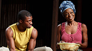 Michael Luwoye as Jacob and Adeola Role as Joy in 'Invisible Thread'