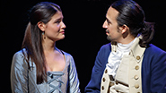 Phillipa Soo as Eliza Hamilton and Lin-Manuel Miranda as Alexander Hamilton in 'Hamilton'