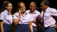 Nicolette Robinson as Eden, Kristolyn Llyod as Grace, Jamar Williams as Ibrahim and Tyrone Davis, Jr as Ronny in 'Invisible Thread'