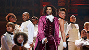 Daveed Diggs as Thomas Jefferson and the cast of 'Hamilton'