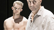 Russell Tovey as Rodolpho and Mark Strong as Eddie in 'A View From the Bridge'