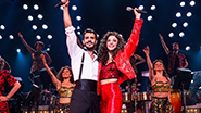 Ektor Rivera as Emilio Estefan and Ana Villafane as Gloria Estefan in On Your Feet