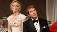Katie Finneran as Julia Budder and Martin Short as James Wicker in 'It's Only a Play.'