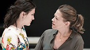 Phoebe Fox as Catherine and Nicola Walker as Beatrice in 'A View From the Bridge'