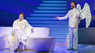 Sean Hayes as God and David Josefsberg as an Angel in An Act of God