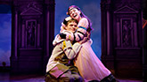 Andrew Durand as Musidorus and Alexandra Socha as Philoclea in Head Over Heels on Broadway