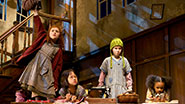Lilla Crawford and the orphans in Annie.