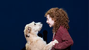 Lilla Crawford and Sunny in Annie.