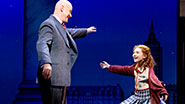 Anthony Warlow and Lilla Crawford in Annie.