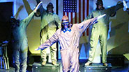 A scene from off-Broadway's Black Angels Over Tuskegee.