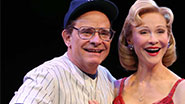 Peter Scolari as Yogi Berra & Tracy Shayne as Carmen in 'Bronx Bombers'
