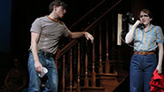 Derek Klena as Michael Johnson and Caitlin Kinnunen as Carolyn Johnson in 'The Bridges of Madison County'