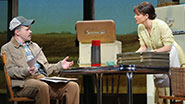 Hunter Foster as Bud Johnson and Kelli O'Hara as Francesca Johnson in 'The Bridges of Madison County'