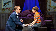 Norbert Leo Butz and Zachary Unger in Big Fish.