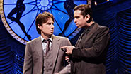 Zach Braff as David Shayne and Nick Cordero as Cheech in 'Bullets Over Broadway.'