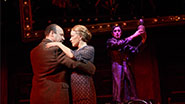 Danny Burstein as Herr Schultz, Linda Emond as Fraulein Schneider and Alan Cumming as Emcee in 'Cabaret'