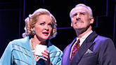 Christine Ebersole as Elizabeth and John Dossett as Tommy in War Paint on Broadway.