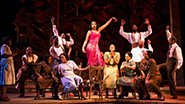 Jennifer Hudson as Shug Avery and cast in The Color Purple