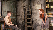 Sarah Greene and Daniel Radcliffe in 'The Cripple of Inishmaan.'