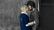 Saoirse Ronan as Abigail Williams and Ben Whishaw as John Proctor in Arthur Miller's The Crucible.