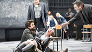 Ben Whishaw as John Proctor and the cast of Arthur Miller's The Crucible.