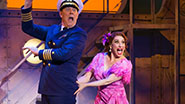 John Bolton as The Captain and Leslie Margherita as Mona Kent in Dames At Sea